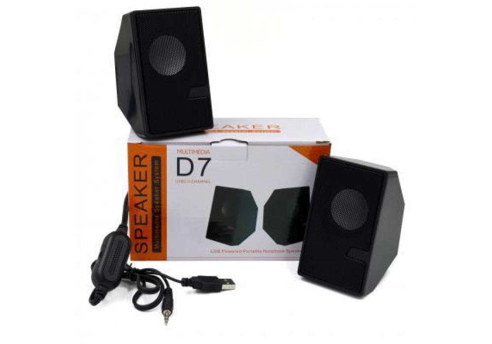 D7 Multimedia Speaker Mini USB 2.0