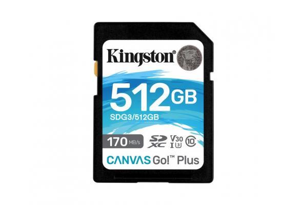 Kingston Memory Card 512GB SDXC Canvas Go Plus 170R C10 UHS-I U3 V30