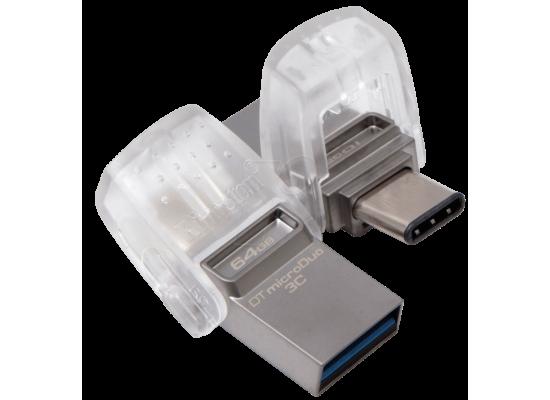 kingston flash OTG 64GB DT microDuo 3C, USB 3.0/3.1 + Type-C flash drive