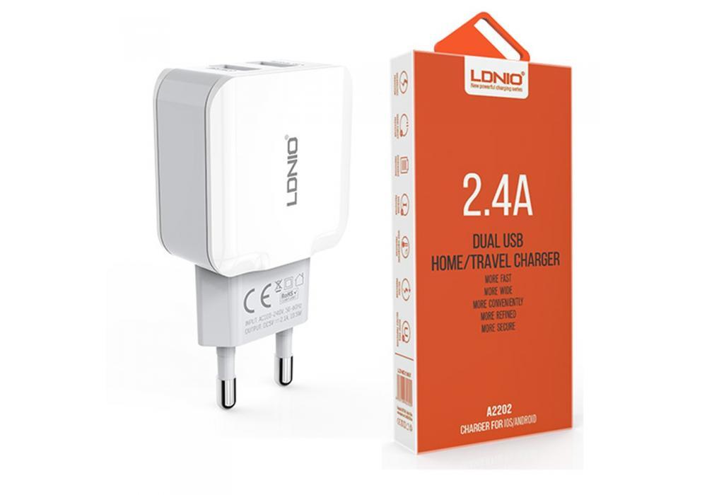 LDNIO Dual USB Port Travel Charger 2.4Amp