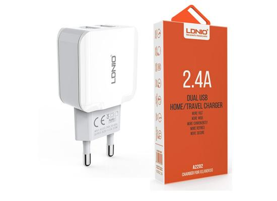 LDNIO Dual USB Port Travel Charger 2.4Amp