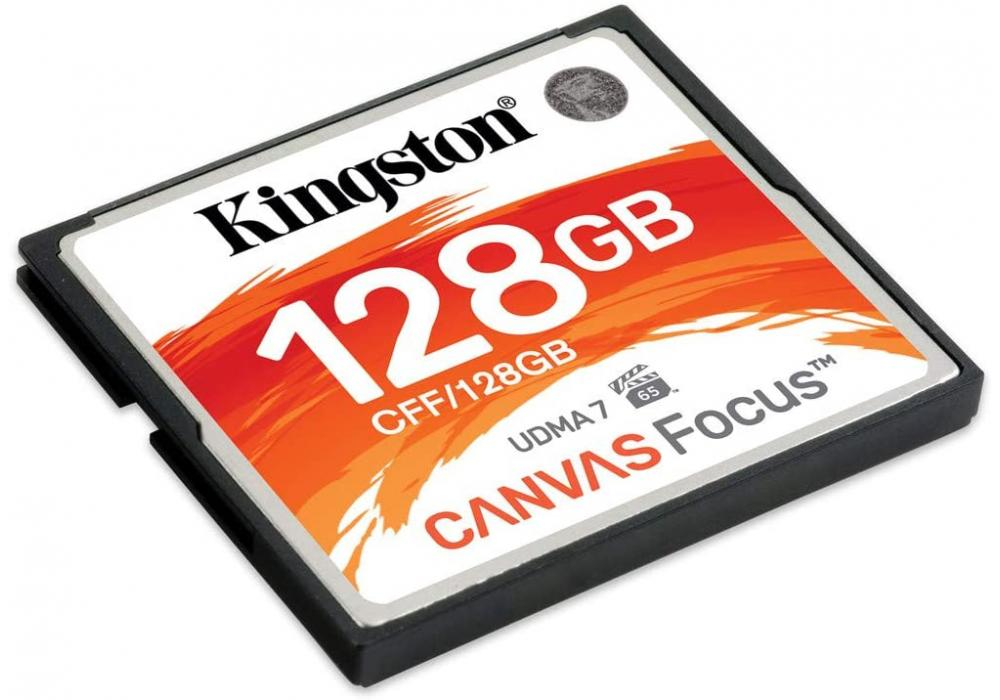 Kingston Memory Card128GB CompactFlash Canvas Focus up to 150R/130W UDMA7 VPG-65