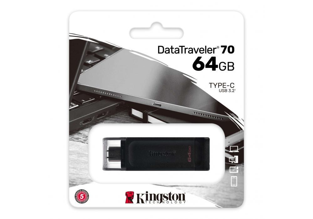 kingston flash 64GB USB-C 3.2 Gen 1 DataTraveler 70