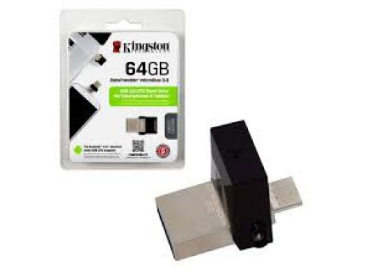 Kingston 64GB Flash Drive MicroDuo 3C USB3.1 To Type-C