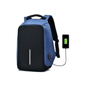 """Smart Laptop Backpack 15.6"""" With USB Blue"""