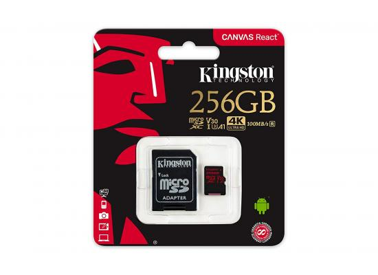 Kingston 265GB memory card Canvas React Card + SD Adptr