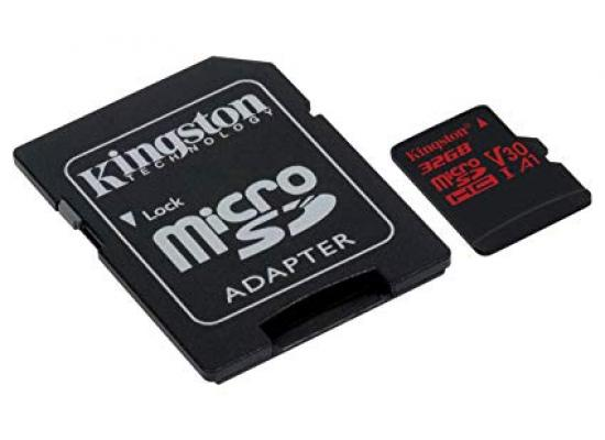Kingston 32GB memory card Canvas React Card + SD Adptr