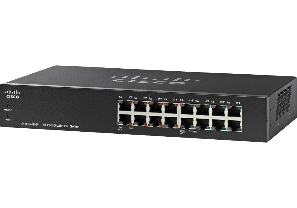 Cisco SG350-10P Managed L3 Gigabit Ethernet (10/100/1000) Black Power over Ethernet (PoE), Switch