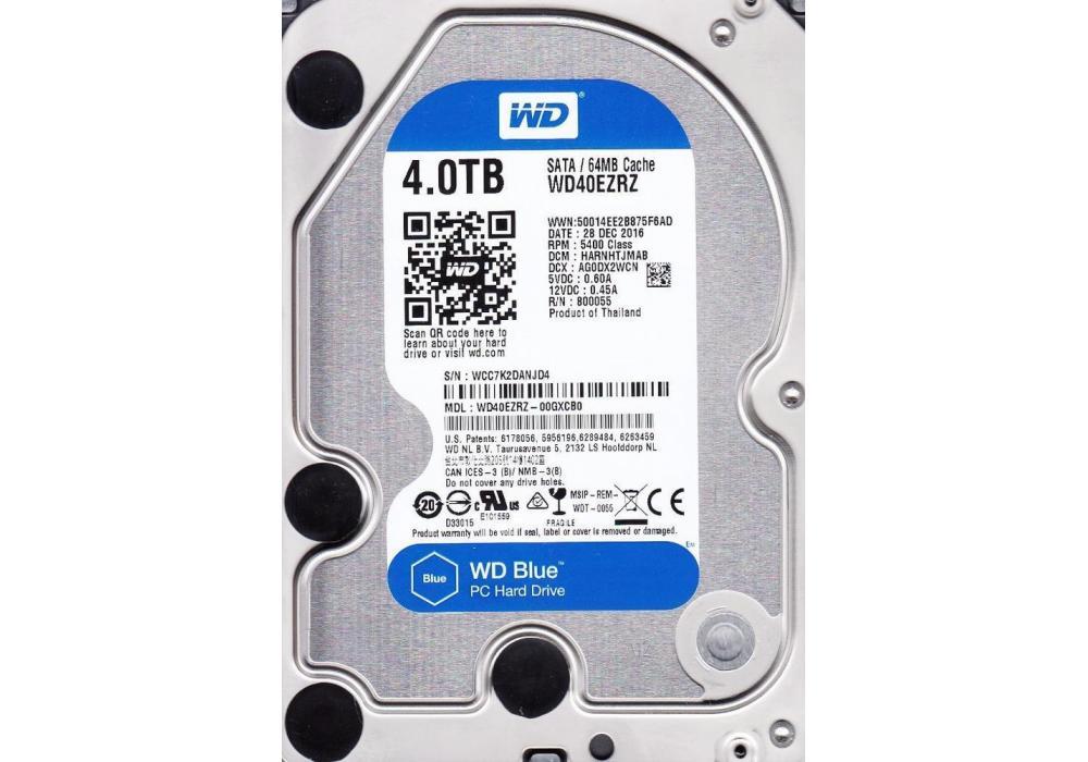 Internal WD Blue 4TB Hard Drive