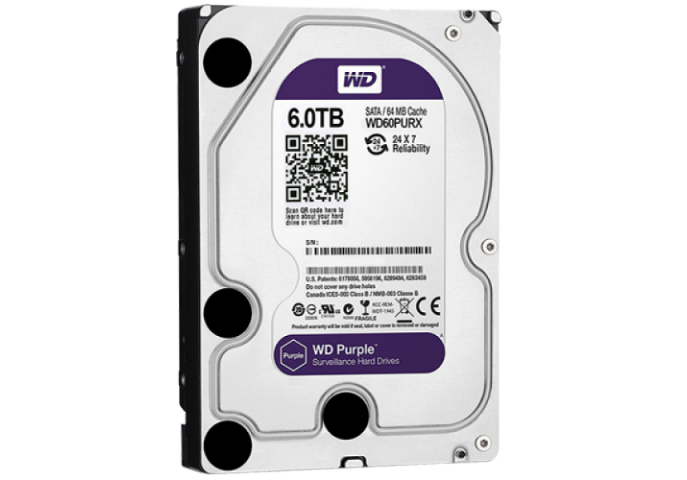 Internal WD Purple 6TB Hard Drive