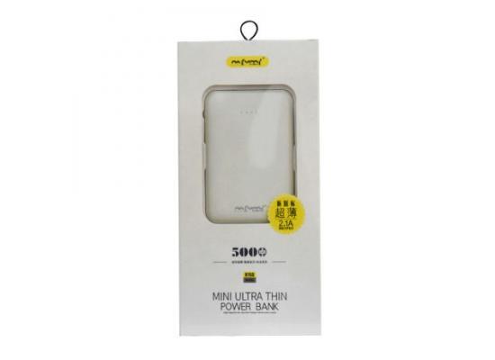 NAFUMI 5000mAh Mini Ultra Thin 2-USB Power Bank