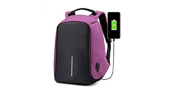 """Smart Laptop Backpack 15.6"""" With USB Lightweight"""