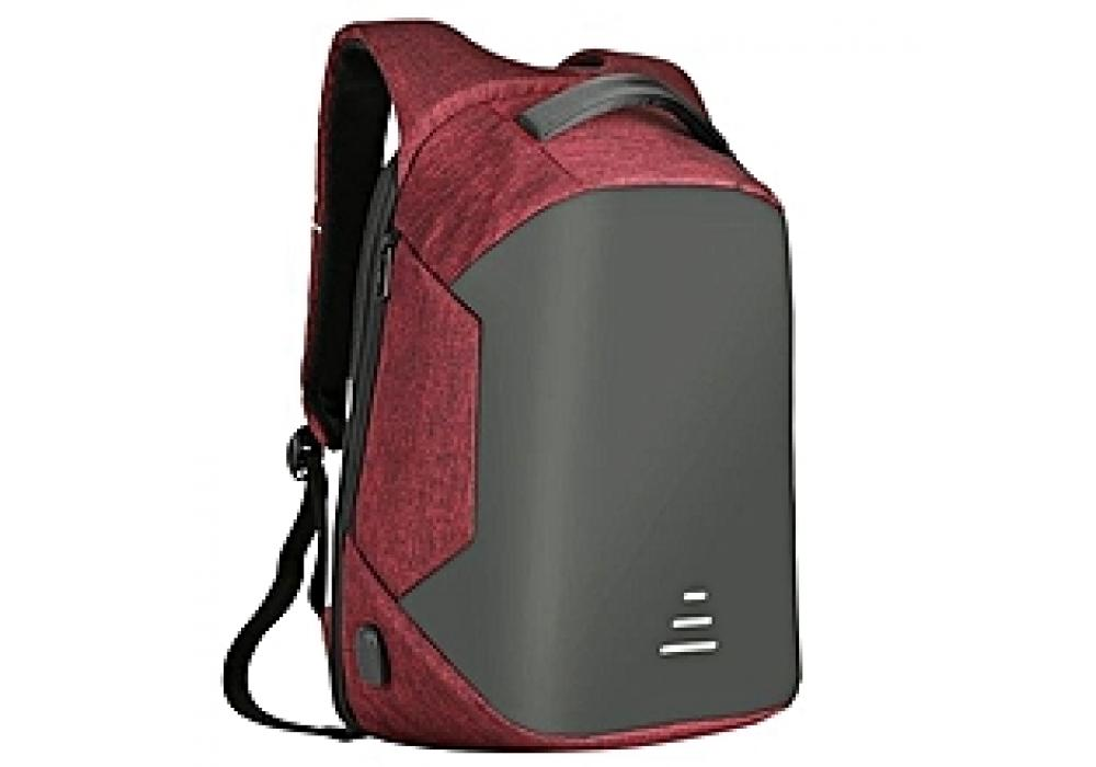 "Smart Laptop Backpack 15.6"" With USB Red"