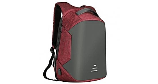 """Smart Laptop Backpack 15.6"""" With USB Red"""