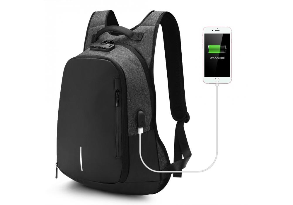 Anti-theft Business Laptop Backpack with Lock and USB