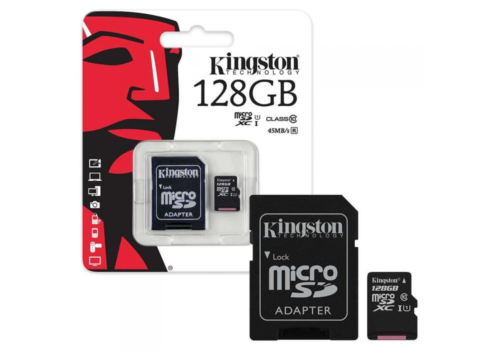 Kingston microSD 128GB + SD Adapter