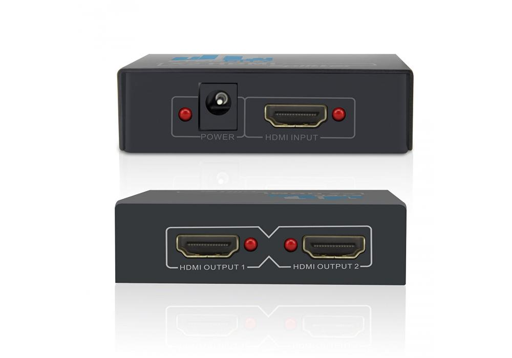 HDMI Splitter / 2 Port Audio Video Amplifier HDCP