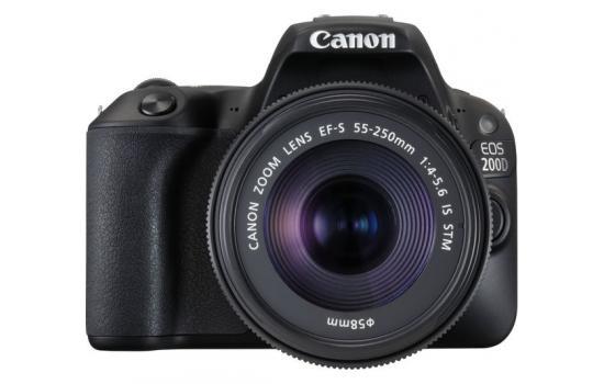 Canon Camera EOS 200D Black + EF-S 18-55mm