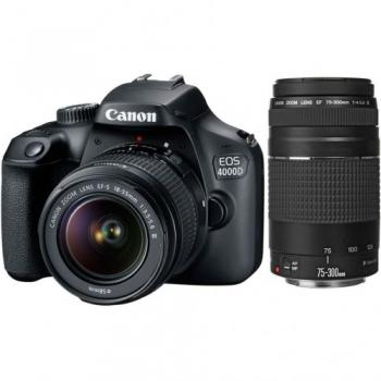 Canon Camera   EOS 4000D Body + EF-S 18-55mm III + EF-S 75-300mm