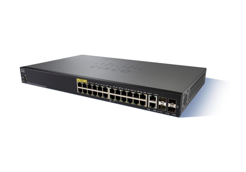 Cisco SG350-28P 28-Port Gigabit PoE Managed Switch