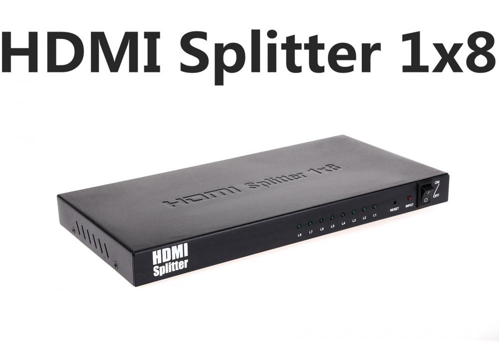 HDMI Splitter / 8 Port Audio Video Amplifier HDCP