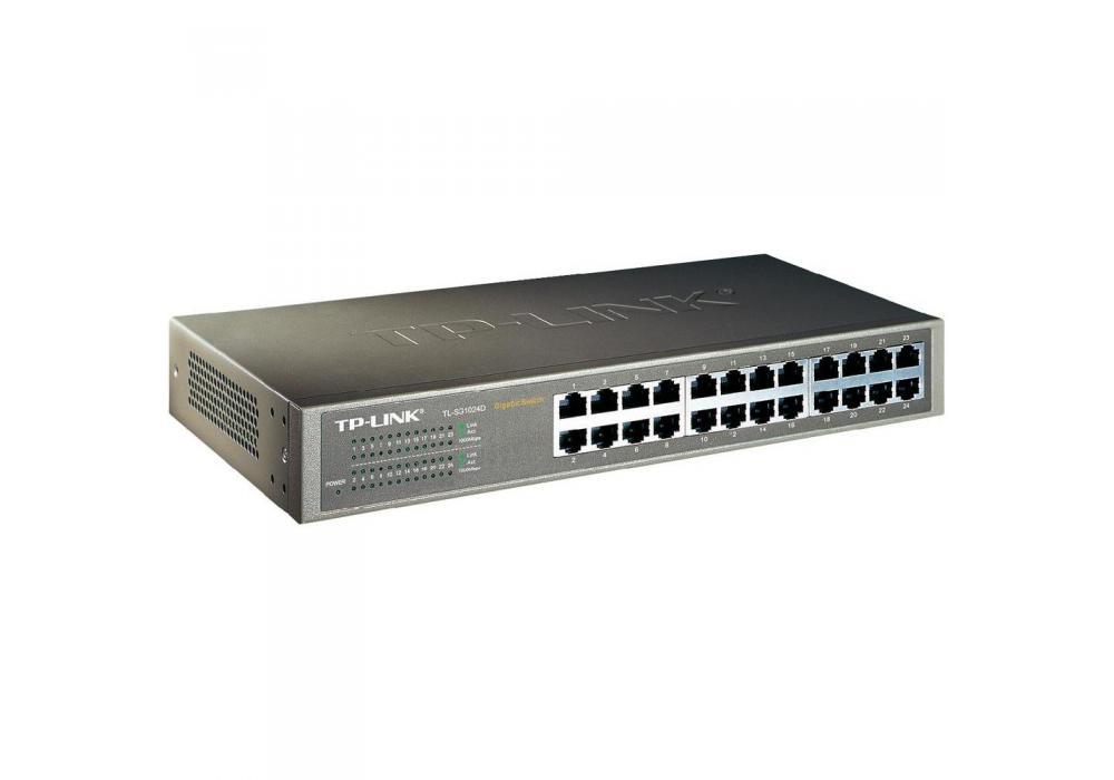 TP-LINK Desktop/Rackmount Switch 24-Port Gigabit TL-SG1024D