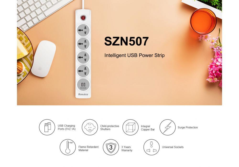Huntkey Power Strip  SZN507
