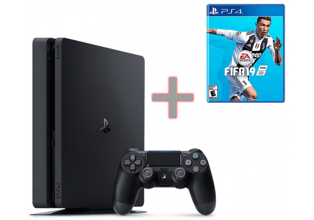 Sony PlayStation 4 -500GB  +FIFA 2019 FREE