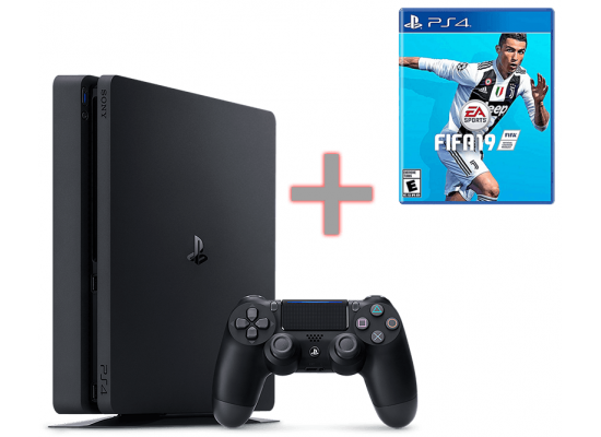 Sony PlayStation 4 -500GB  +FIFA 2019 FREE