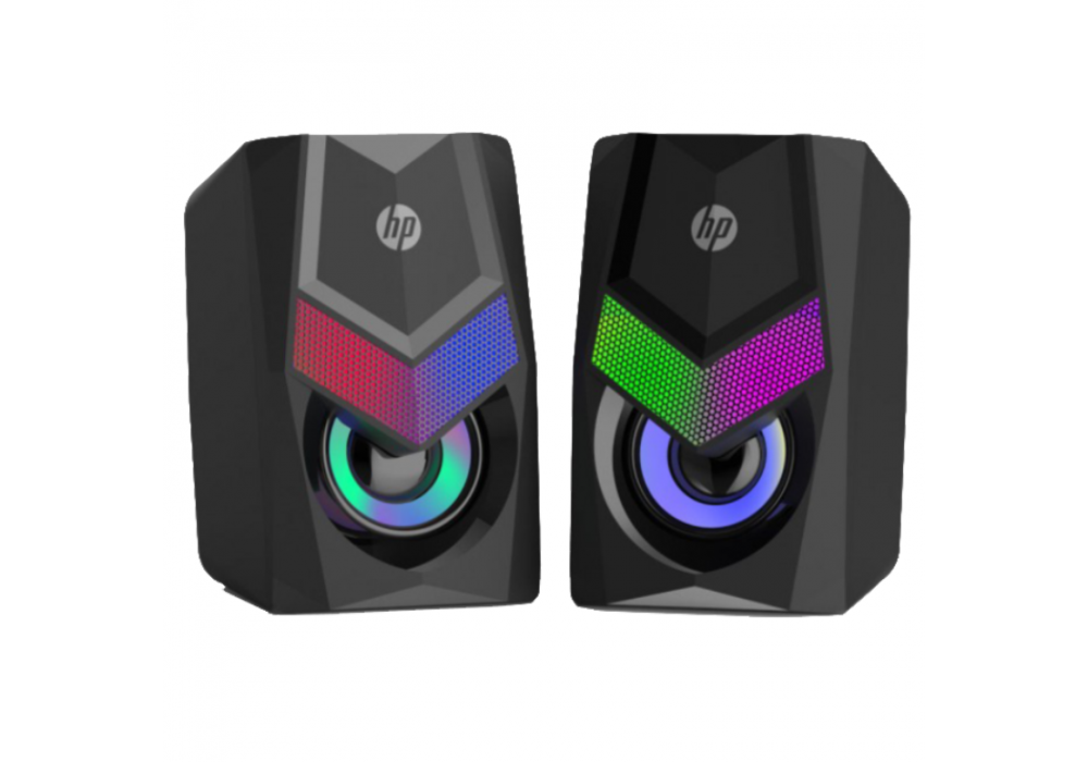 HP DHE-6000 RGB Backlit Gaming Stereo Speakers