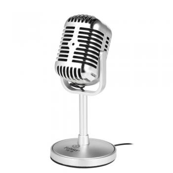 Feinier FE-18 High Sensitive Microphone Desktop Laptop Microphone Plug and Play for Recording Online