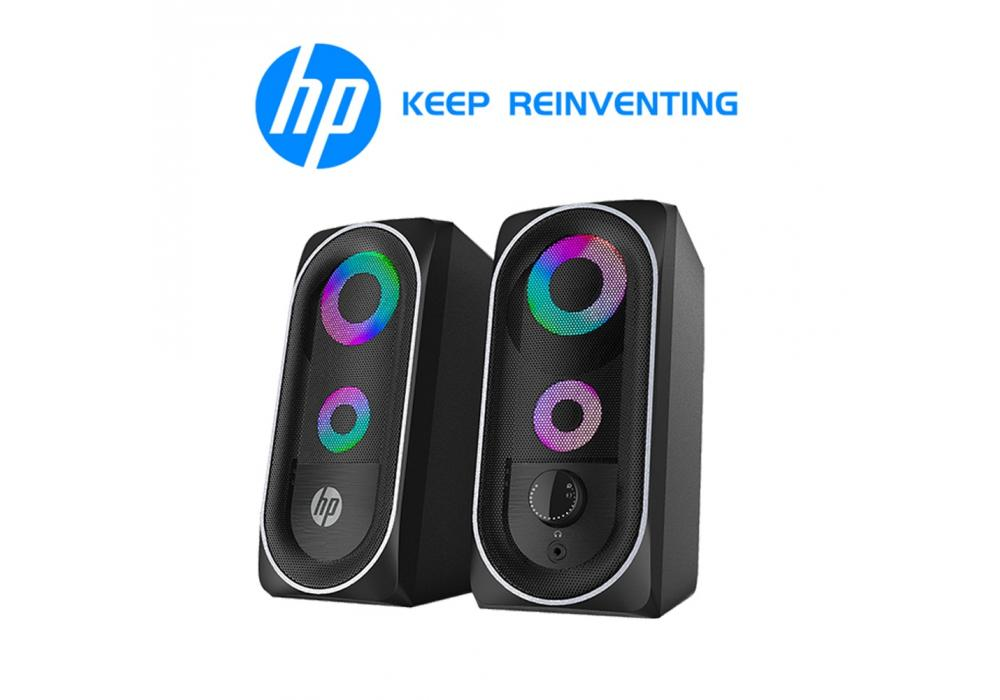 HP DHE-6001 RGB Backlit Gaming Stereo Speakers