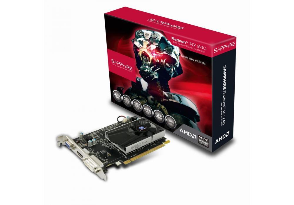 SAPPHIRE AMD RADION R7 240  4GB DDR3