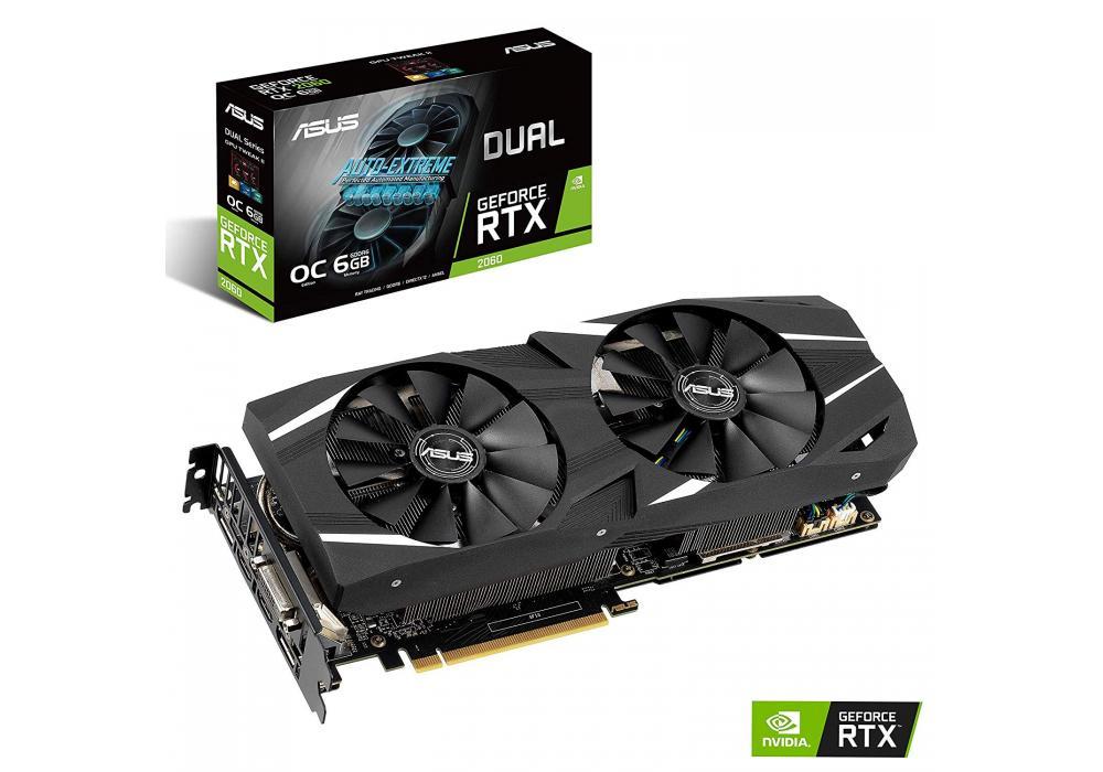 Graphic Card Asus NVIDIA GeForce Dual  RTX 2060 OC edition 6GB GDDR6