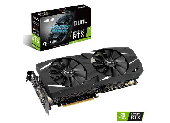 Graphic Card Asus NVIDIA GeForce Dual  RTX 2060 OC edition 6GB GDDR6