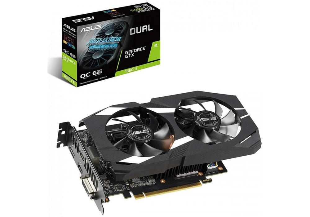 Graphic Card Asus NVIDIA GeForce Dual GTX 1660TI OC Edition 6GB GDDR6