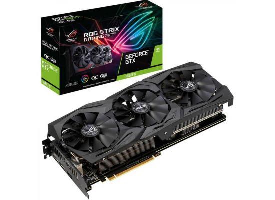 Graphic Card Asus ROG Strix NVIDIA GeForce  GTX 1660TI OC Edition  6GB GDDR6