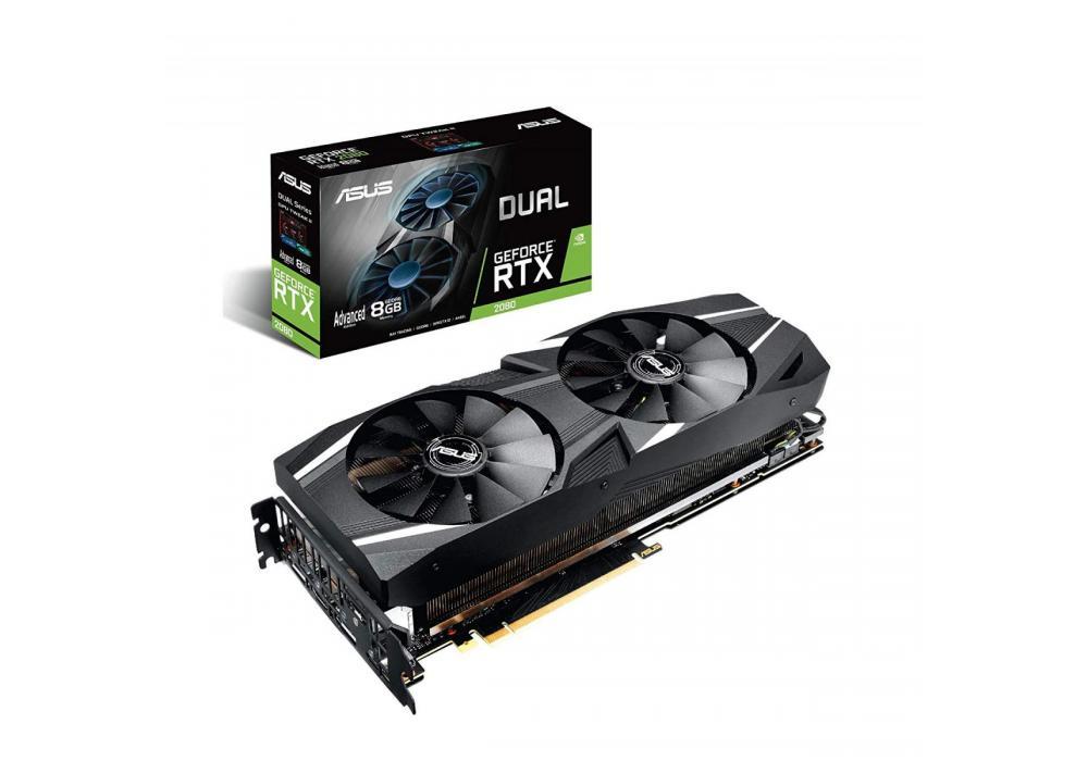 Graphic Card Asus Dual NVIDIA GeForce  RTX 2080  advanced edition 8GB GDDR6