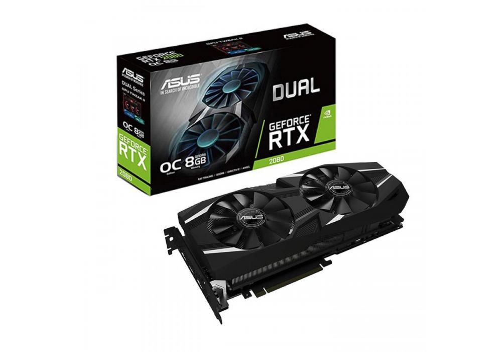 Graphic Card Asus Dual NVIDIA GeForce  RTX 2080  OC edition 8GB GDDR6
