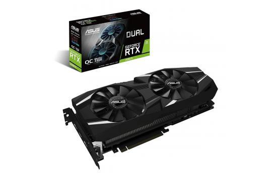 Graphic Card Asus Dual NVIDIA GeForce  RTX 2080TI  OC edition 11GB GDDR6