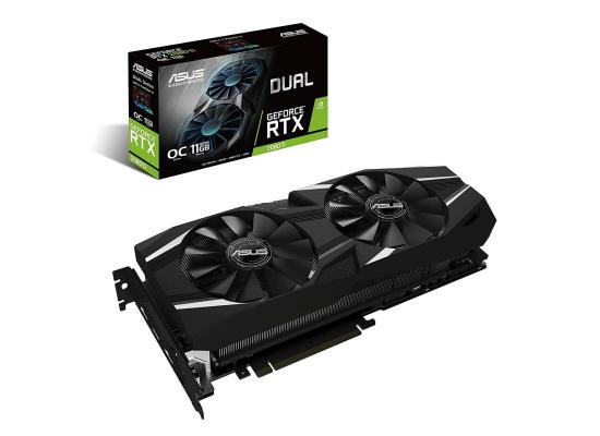 Graphic Card Asus Dual NVIDIA GeForce  RTX 2080TI  OC edition 11GB GDDR6