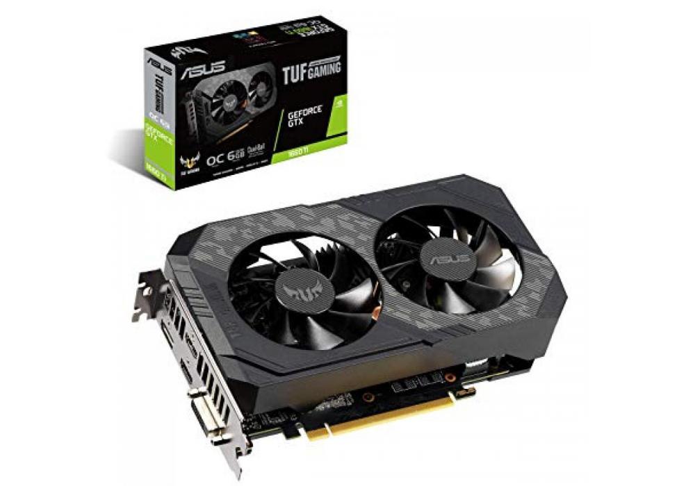 Graphic Card Asus TUF NVIDIA GeForce Dual GTX 1660TI OC  6GB GDDR6