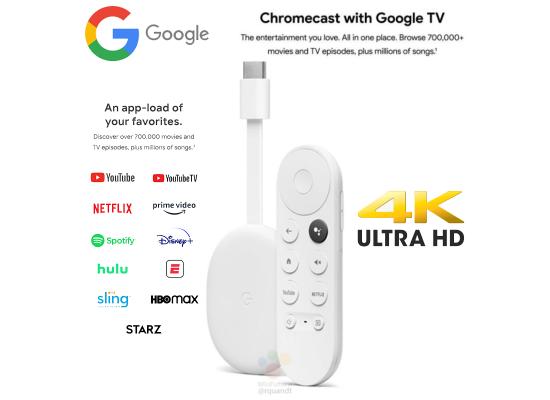 Chromecast with Google TV 4K Snow