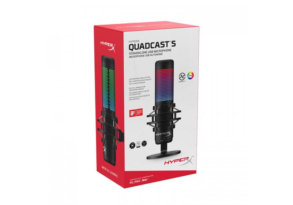 Mic HyperX QuadCast S RGB USB Condenser Microphone