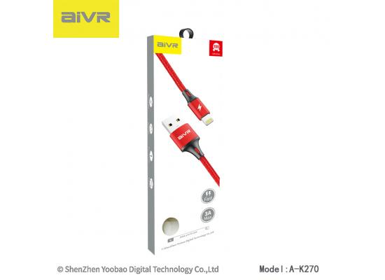 Mobile cable AIVR K008-i  iPhone 1M FAST 3A MAX