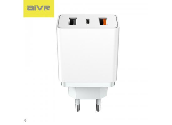 AIVR A32 Plug  DUAL USB + TYPE C Home Wall FAST  Charger Power 4A