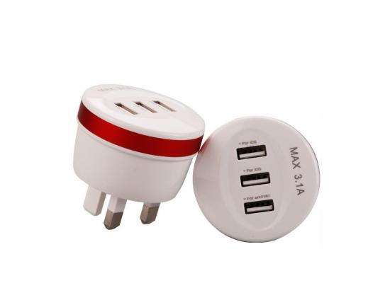 Plug Usb Home Wall Charger Power 3.1A