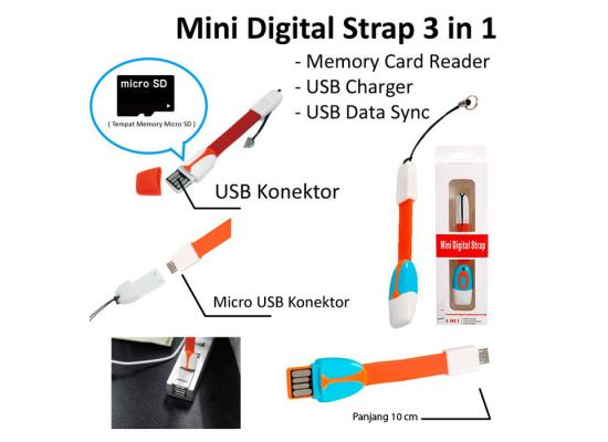 Cable Charger Android With Card Reader 10cm