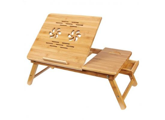 Laptop Cooling Stand Bamboo 2xFan