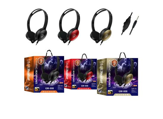Headset Gaming GM-008 AUX